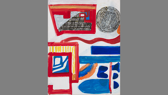 Untitled #30, n. d., mixed media on paper by Shirley Jaffe