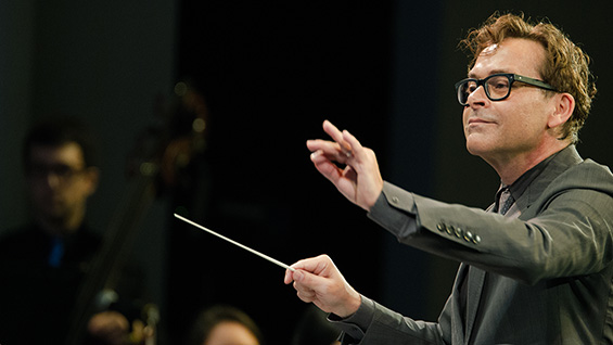 James Bagwell conducting The Orchestra Now. Photo by Jito Lee