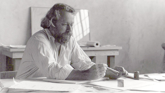 Donald Judd, Print Studio, Marfa, Texas. 1982. James Dearing-Judd Foundation Archives