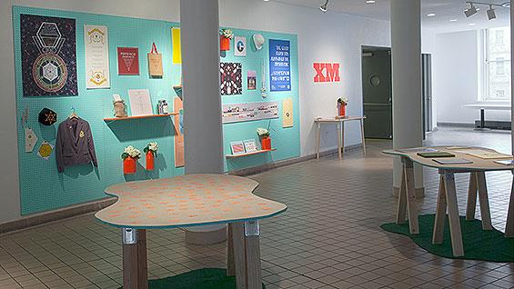 'Extra Medium' (installation view) by Julie Harris; mixed media