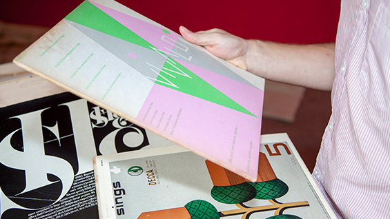 An example of the wide array of journals housed by the Center as examples of excellent design and typography