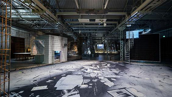 GDM - Grandad's Visitor Centre, 2016. Installation image at Pirelli HangarBicocca, Milan. Photo by Agostino Osio