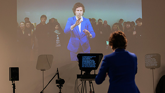 Ariel Freedman in a production still from 'Stand Behind Me' (2013) by Liz Magic Laser, Lisson Gallery, London