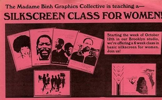 Silkscreen Class for Women!, flier version 2 (n.d.), courtesy of Mary Patten