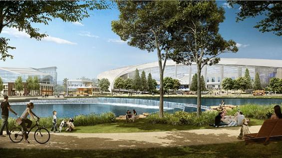 Mia Lehrer + Associates, City of Champions Lake Park | Photo courtesy of Hart Howerton