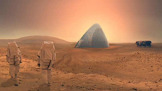 Mars Ice House by SEArch+