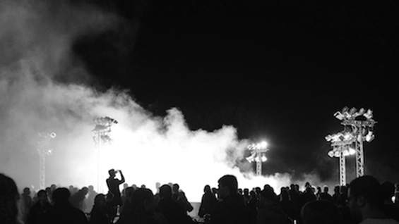 public preposition / white space 2014 light installation Festival of Lights – 25 years peaceful revolution, Leipzig / DE Photo: Punctum © Archive Mischa Kuball, Düsseldorf / VG Bild-Kunst, Bonn 2017