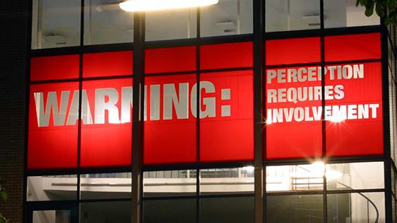 'Warning: Perception Requires Involvement' (installation view) by Antoni Muntadas