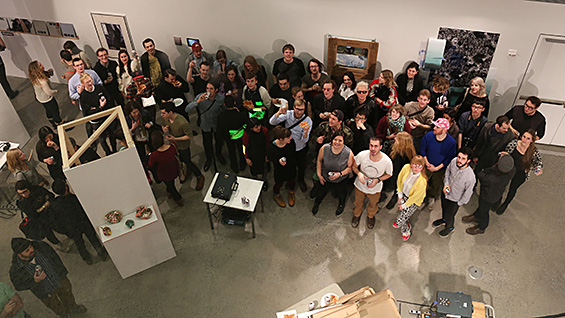 The participants of NEO New York at the culminating exhibition. All photos courtesy NEO New York