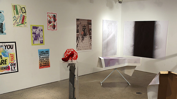 An installation view of the final exhibition