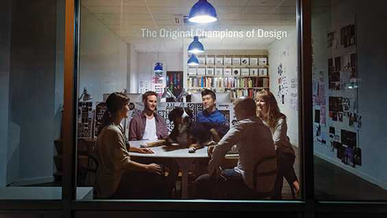 Studio portrait of The Original Champions of Design