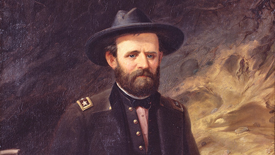 Portrait of Ulysses S. Grant (detail); 1865; Ole Peter Hansen Balling. Courtesy the National Portrait Gallery<br><br>