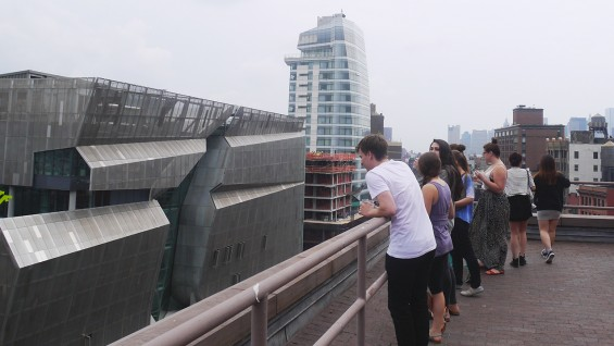 Introduction to Architecture, view from the roof of The Foundation Building, summer 2014