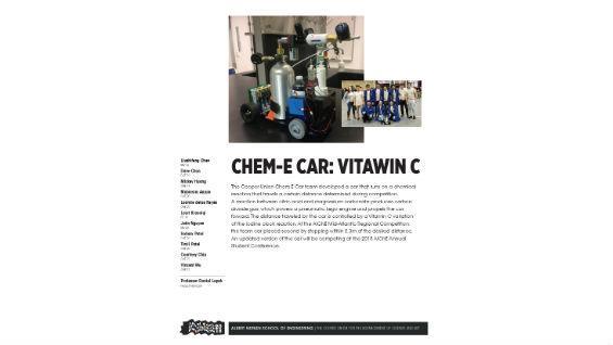 [STUDENT POSTER] CHEM-E CAR: VITAWIN C