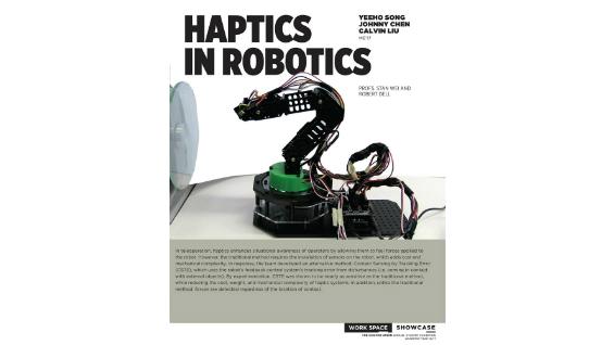 [STUDENT POSTER] HAPTICS IN ROBOTICS