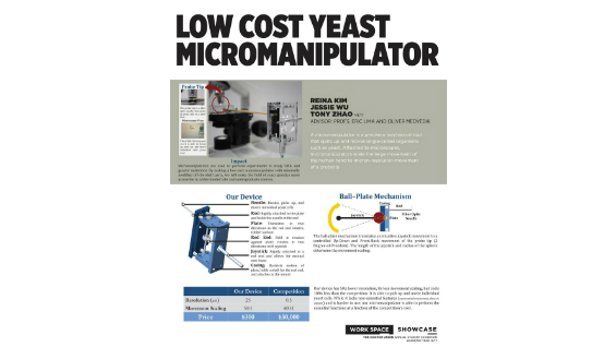 [STUDENT POSTER] LOW COST YEAST MICROMANIPULATOR
