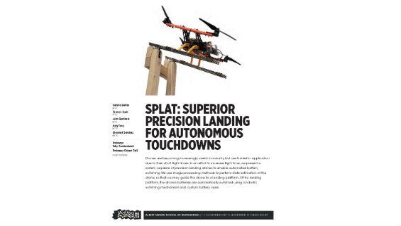 [STUDENT POSTER] S.P.L.A.T.: SUPERIOR PRECISION LANDING FOR AUTONOMOUS TOUCHDOWNS