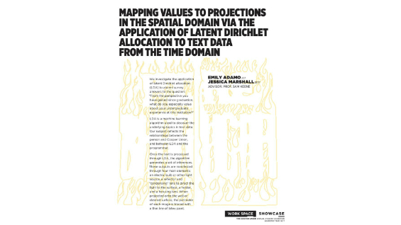 [STUDENT POSTER] MAPPING VALUES TO PROJECTIONS IN THE SPATIAL DOMAIN VIA THE APPLICATION OF LATENT DIRICHLET ALLOCATION TO TEXT DATA FROM THE TIME DOMAIN