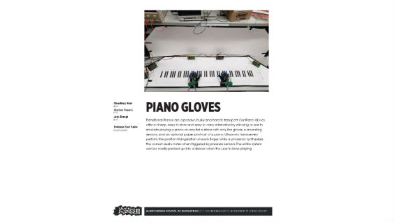 [STUDENT POSTER] PIANO GLOVES