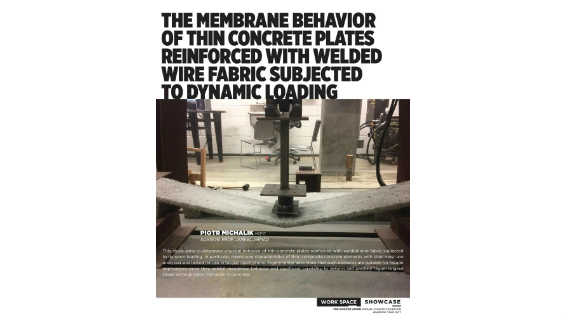 [STUDENT POSTER] THE MEMBRANE BEHAVIOR OF THIN CONCRETE PLATES REINFORCED WITH WELDED WIRE FABRIC SUBJECTED TO DYNAMIC LOADING