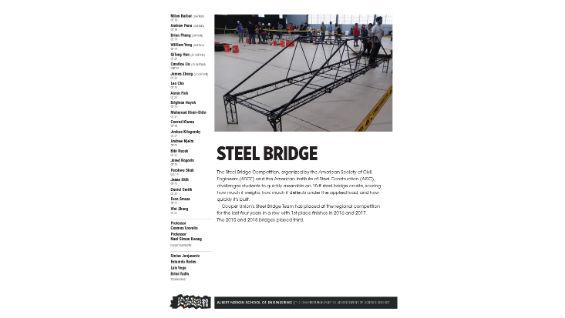 [STUDENT POSTER] STEEL BRIDGE