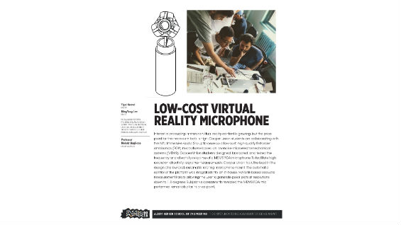 [STUDENT POSTER] LOW-COST VIRTUAL REALITY MICROPHONE