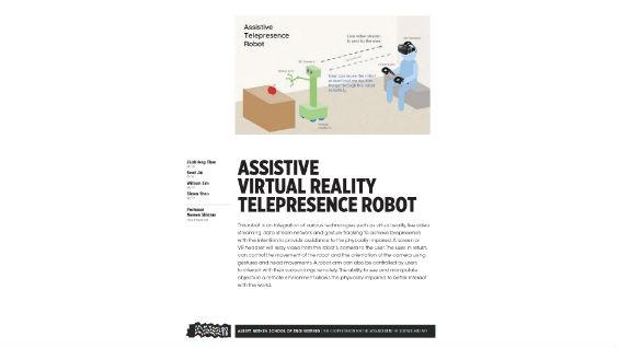 [STUDENT POSTER] ASSISTIVE VIRTUAL REALITY TELEPRESENCE ROBOT