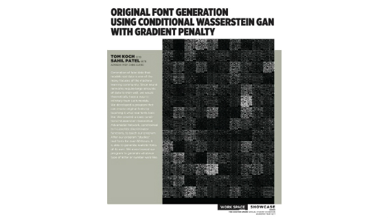 [STUDENT POSTER] ORIGINAL FONT GENERATION USING CONDITIONAL WASSERSTEIN GAN WITH GRADIENT PENALTY