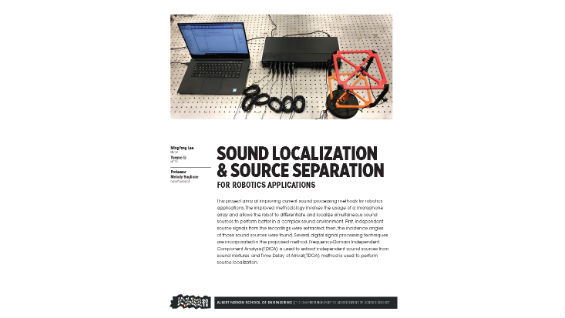 [STUDENT POSTER] SOUND LOCALIZATION & SOURCE SEPARATION