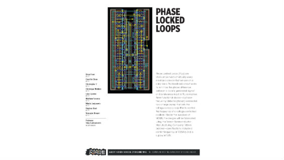 [STUDENT POSTER] PHASE LOCKED LOOPS