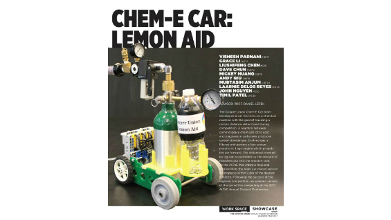 [STUDENT POSTER] CHEM-E CAR: LEMON AID