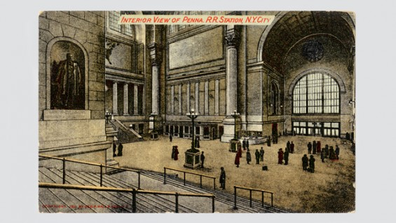 Pennsylvania Station. Postmark February 8, 1915.