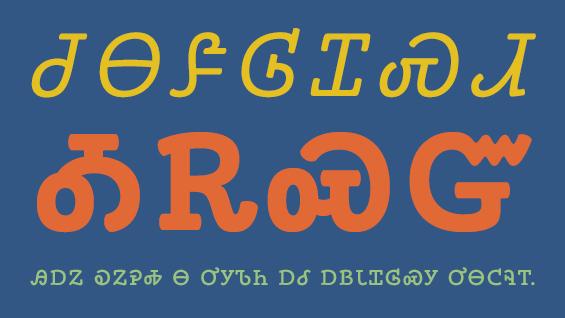 A sample of the Phoreus Cherokee typeface, designed by Mark Jamra