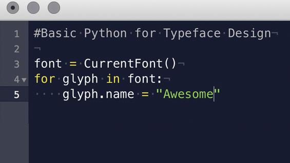 Basic Python Programming for Typeface Design
