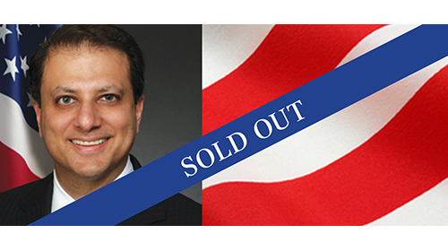 Preet Bharara Lecture Sold Out