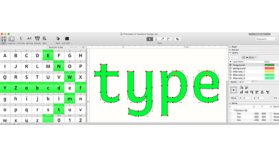 A course on the Principles of Typeface Design with Troy Leinster