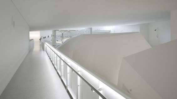 Steven Holl Architects--Cité de l'Océan et du Surf, 2011, gallery interior | photo: Roland Halbe