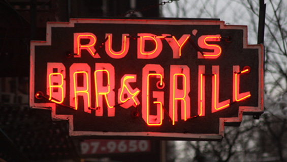 Rudy's Bar & Grill, NYC. Photo by Thomas Rinaldi