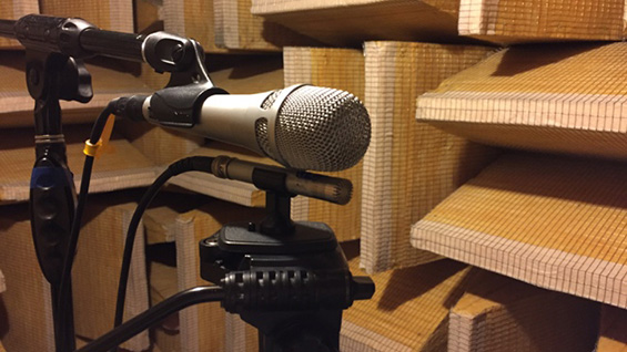 Inside Cooper's anechoic chamber