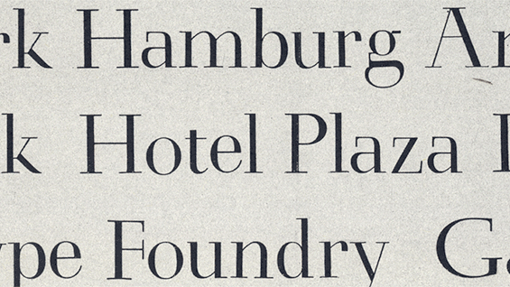 Schneidler Antiqua font sample, designed by F.H. Ernst Schneidler (1882–1956)