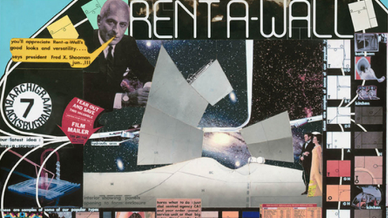 Rent-A-Wall, Archigram 7, 1966. Courtesy of Michael Webb.