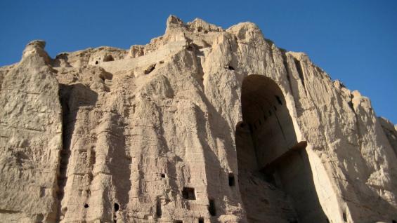 Buddha niche in Bamiyan Vallery, Afghanistan