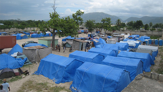 Paper Emergency Shelter for Haiti, 2010, Port-au-Prince, Haiti
