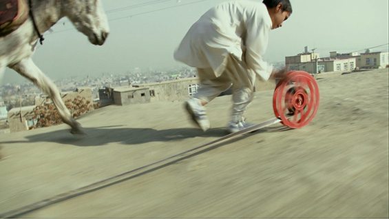 REEL-UNREEL, 2011, still from video by Francis Alÿs. Image courtesy David Zwirner, New York/London