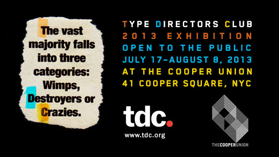 Type Directors Club 2013 exhibition poster
