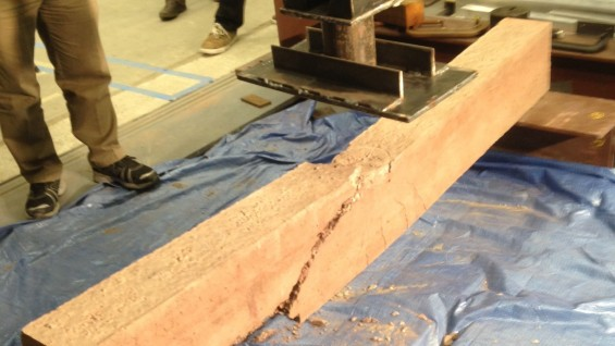 Testing Reinforced Concrete Beam to Failure