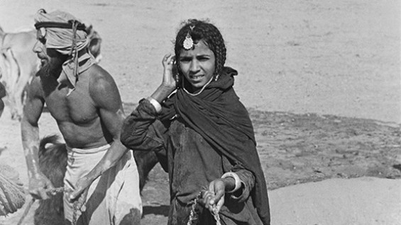 Girl of the Wahiba at a well, Wadi Halfayn - Wilfred Thesiger, 1949