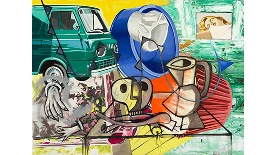 'This is the Fun,' 2014-15. David Salle. Oil, acrylic and archival digital print. Image courtesy of the artist
