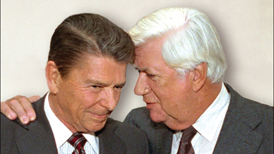 Ronald Reagan and Tip O'Neill (jacket cover detail)