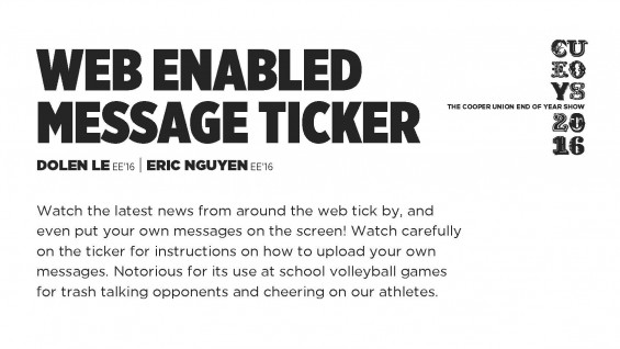 [STUDENT POSTER] WEB ENABLED MESSAGE TICKER